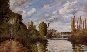 Camille Pissarro - Riverbanks in Pontoise