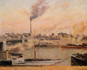 Camille Pissarro - Saint Sever, Rouen Morning, Five O'Clock