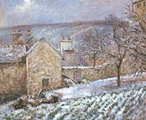 Camille Pissarro - Snow at the Hermitage, Pontoise
