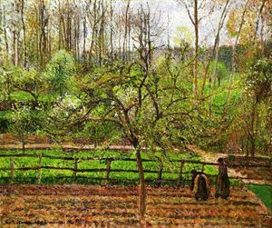Camille Pissarro - Spring, Gray Weather, Eragny