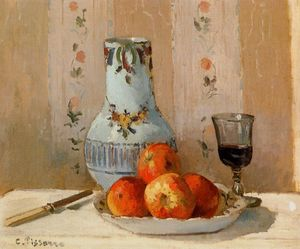 Camille Pissarro - Still Life with Apples and Pitcher