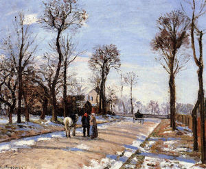 Camille Pissarro - Street Winter Sunlight and Snow