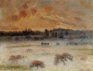 Camille Pissarro - Sunset with Fog, Eragny