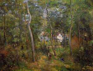 Camille Pissarro - The Backwoods of l'Hermitage, Pontoise
