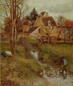Camille Pissarro - The Brook at Osny