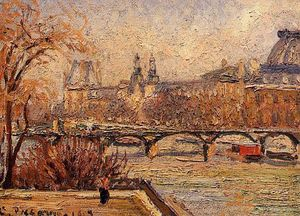 Camille Pissarro - The Louvre, Morning