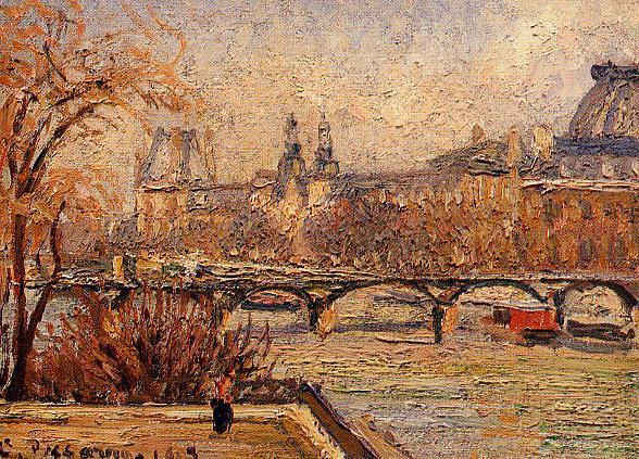 The Louvre, Morning, 1903 by Camille Pissarro (1830-1903, United States) | Oil Painting | WahooArt.com