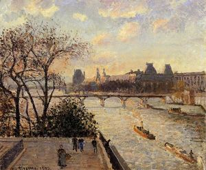 Camille Pissarro - The Louvre and the Seine from the Pont Neuf