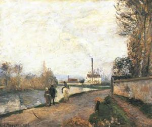 Camille Pissarro - The Oise at Pontoise in Bad Weather