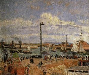 Camille Pissarro - The Pilot's Jetty, Le Havre High Tide, Afternoon Sun