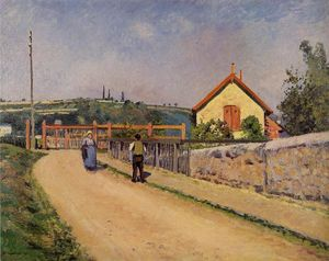 Camille Pissarro - The Railroad Crossing at Les Patis