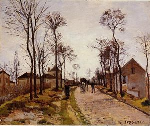 Camille Pissarro - The Road to Caint-Cyr at Louveciennes