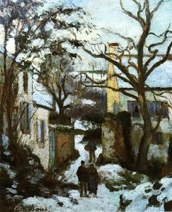 Camille Pissarro - The Road to L'Hermitage in Snow