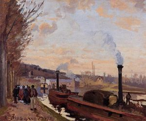 Camille Pissarro - The Seine at Port Marly