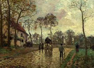 Camille Pissarro - The Stagecoach at Louveciennes