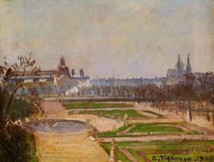Camille Pissarro - The Tuileries and the Louvre