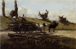 Camille Pissarro - The Wood Cart