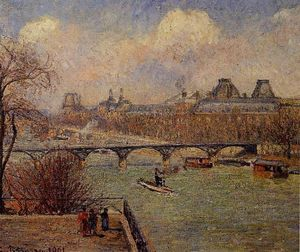 Camille Pissarro - View of the Seine from the Raised Terrace of the Pont-Neuf