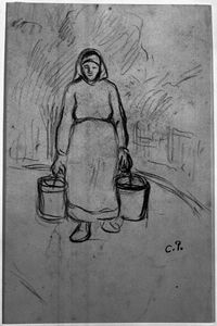 Camille Pissarro - Woman Carrying Two Pails