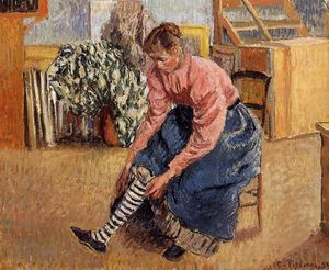 Camille Pissarro - Woman Putting on Her Stockings