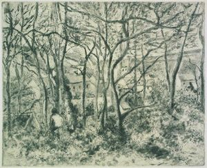 Camille Pissarro - Wooded Landscape at the Hermitage
