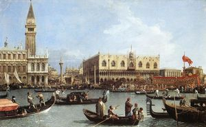 Giovanni Antonio Canal (Canaletto) - Return of the Bucentaurn to the Molo on Ascension Day