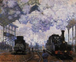 Claude Monet - Arrival at Saint-Lazare Station - (Buy fine Art Reproductions)