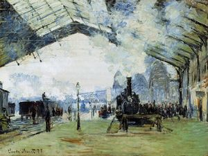 Claude Monet - Arrival of the Normandy Train, Gare Saint-Lazare