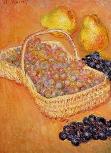 Claude Monet - Basket of Grapes, Quinces and Pears