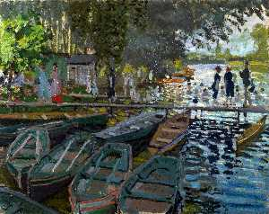 Claude Monet - Bathers at La Grenouillere - (Buy fine Art Reproductions)