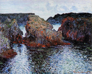 Claude Monet - Belle-Ile, Rocks at Port-Goulphar