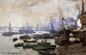 Claude Monet - Boats in the Port of London