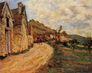 Claude Monet - Les Roches at Falaise near Giverny