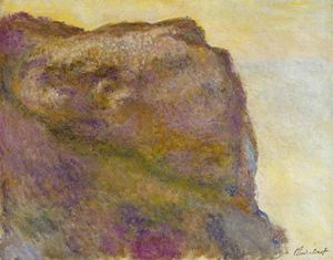 Claude Monet - On the Cliff at Petit Ailly