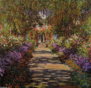 Claude Monet - Pathway in Monet's Garden at Giverny