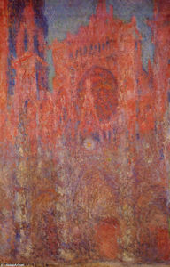 Claude Monet - Rouen Cathedral - (Famous paintings reproduction)