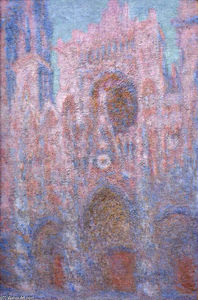 Claude Monet - Rouen Cathedral, Symphony in Grey and Rose - (paintings reproductions)