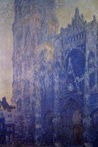 Claude Monet - Rouen Cathedral, the Portal and the tour d-Albane, Morning Effect