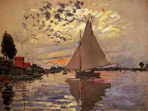 Claude Monet - Sailboat at Le Petit-Gennevilliers