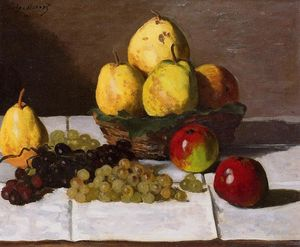 Claude Monet - Still Life with Pears and Grapes 1