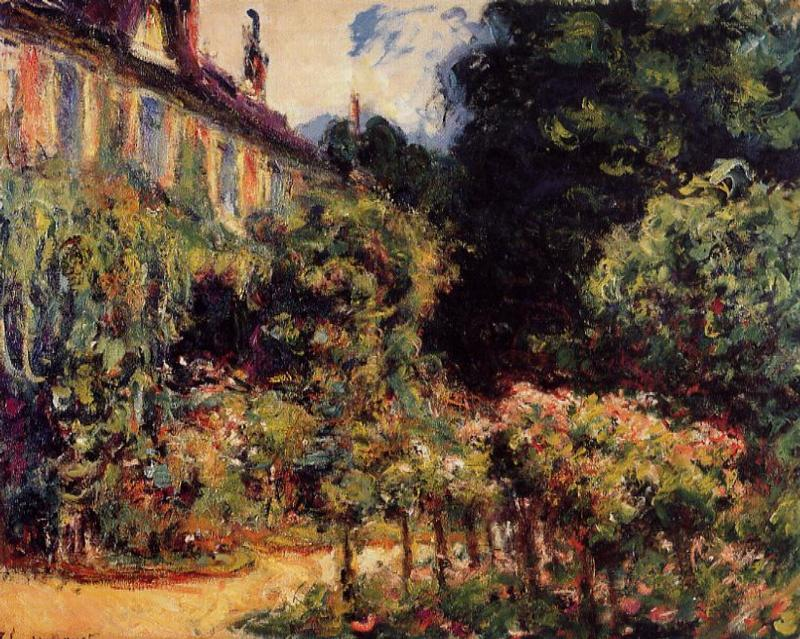 The Artist`s House at Giverny, 1913 by Claude Monet (1840-1926, France) | Art Reproductions Claude Monet | WahooArt.com