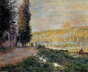Claude Monet - The Banks of the Seine, Lavacourt