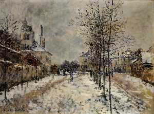 Claude Monet - The Boulevard de Pontoise at Argenteuil, Snow Effect