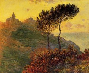 Claude Monet - The Church at Varengeville, against the Sunset
