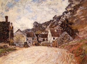 Claude Monet - The Hamlet of Chantemesie at the Foot of the Rock