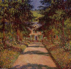 Claude Monet - The Main Path at Giverny