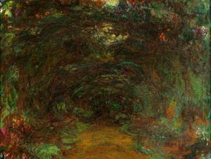 Claude Monet - The Path under the Rose Trellises, Giverny 1