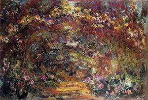 Claude Monet - The Path under the Rose Trellises, Giverny