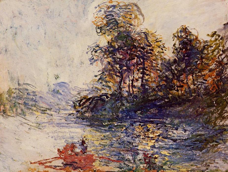 Order Oil Painting : The River, 1881 by Claude Monet (1840-1926, France) | WahooArt.com
