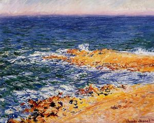 Claude Monet - The Sea in Antibes